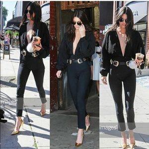 Seen on Kendall Jenner - double buckle belt